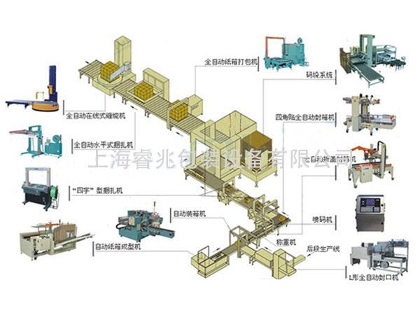 食用油灌装后段包装生产线